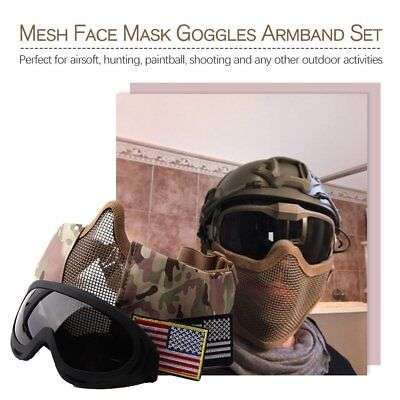 Metal Steel Mesh Protective Mask Half Face Tactical Airsoft Military Mask Gear O