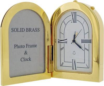 Gift Time Products Arch Photo Frame and Alarm Clock - Gold