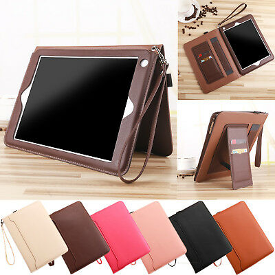 "Smart Folding Card Slots Leather Case Stand Cover For New iPad 9.7"" Air mini Pro"