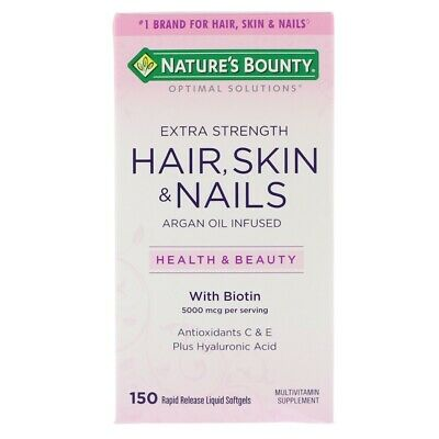 Hair Skin & Nails Multi Vitamin + Collagen Biotin Hyaluronic Acid | 150 Capsules