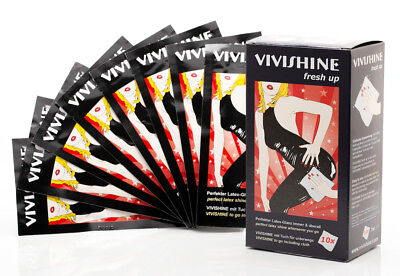10 VIVISHINE GLANZtücher FRESH UP Gummi- & Latexbekleidung, Reise, Party, Urlaub