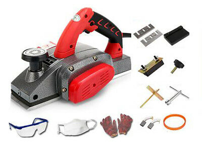 220V Portable Electric Woodworking Planer DIY Hand Wood Planing Machine 0mm-2mm