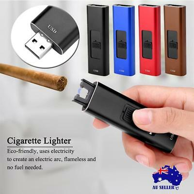 New USB Rechargeable Electric Cigarette Lighter Pulse Arc Windproof Flameless AU
