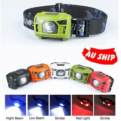 LED Head Torch Headlight Lamp CE Camping Induction Headlamp USB Rechargeable QU