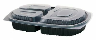 Meal Prep 3 Compartment Food Lunch Box & Lids