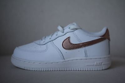 differently e57d7 f1336 Nike Air Force 1 Kids Rose Gold Trainers Eu 26 Uk 8.5