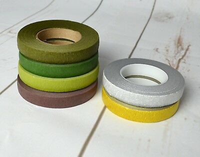 Stemtex & Oasis Florist Tape - Asst Colours Wire Work Buttonholes Craft