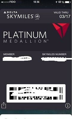 Delta Platinum Membership Challenge. Until January 2020