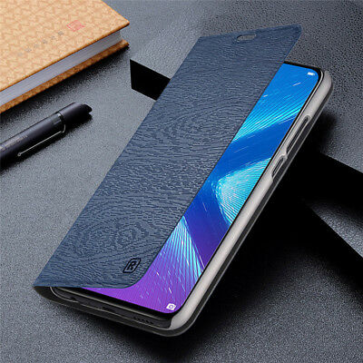 For Huawei Honor 8X 8 9 10 Lite Luxury Business Flip Wallet Leather Case Cover