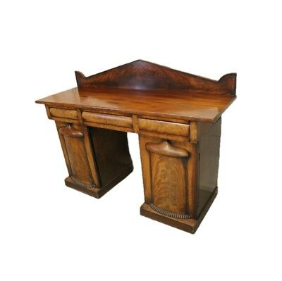 George IV  Antique Mahogany Pedestal Sideboard with Projected Panel Doors