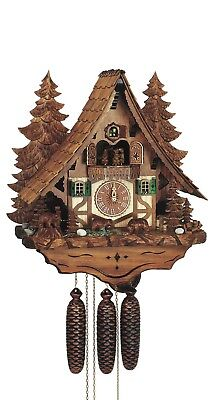 Cuckoo Clock Chalet with moving bear and mill-wheel SC 8TMT 2653/9 NEW