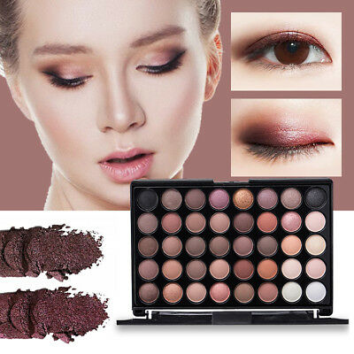 40 Color Eyeshadow Cream Eye Shadow Makeup Cosmetic Matte Palette Shimmer NEW