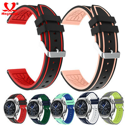22MM Silicone Sport Band for Samsung Galaxy Watch 46mm Gear S3 Strap Bracelet