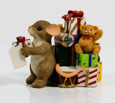 Charming Tails Something Just For You Christmas Gift Mouse Fitz & Floyd 87/161 *