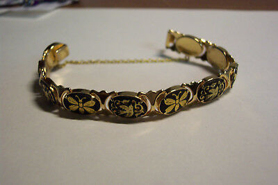 Vintage Toledo Golden DAMASCENE bracelet (from Toledo, Spain)