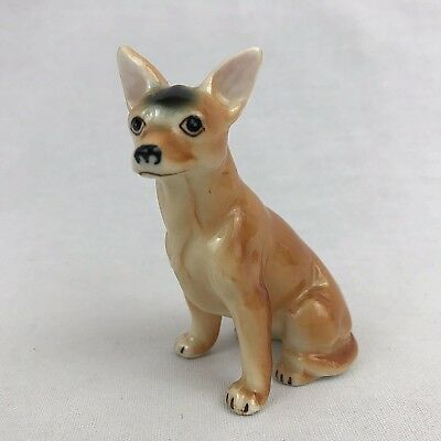 Chihuahua Dog Figurine Porcelain Tan 3 Inches