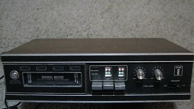 vintage channel master 8 track player recorder  6326