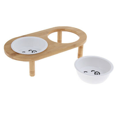 Elevated Pet Feeder Raised Dog Bowls Feeding Station Double Bowl Stand