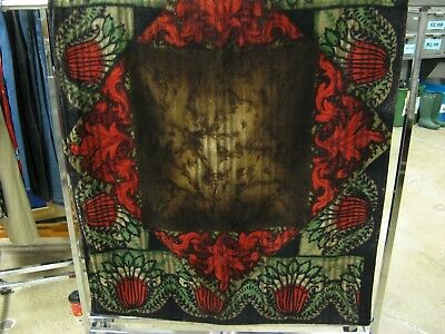Antique Mohair Carriage Robe/Sleigh Blanket by L.C. Chase & Co 48'' x 60'' As is