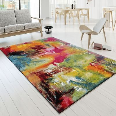 Modern Rug Living Room Multi Area Mats Bright Abstract Rugs Small X Large Carpet