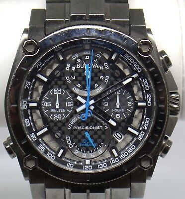 Bulova Precisionist Chronograph Black Dial Men's Watch 98B229 #95263-2