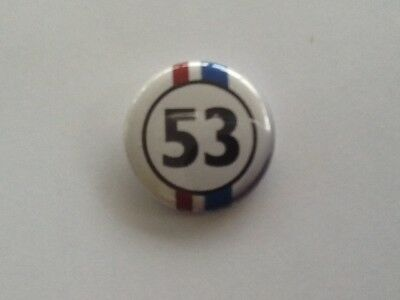 Badge Herbie 53 Ww cox coccinelle  diamètre  25 mm