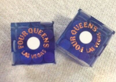 ***four Queens Hotel&casino***las Vegas, Nv*** Pair Of Blue Dice***