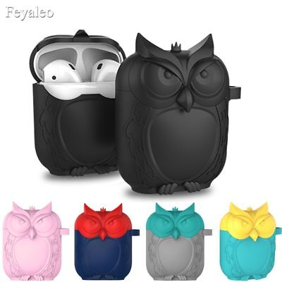Cute Cartoon Case Cover For Apple Airpods Charger Shockproof Owl Protective Skin