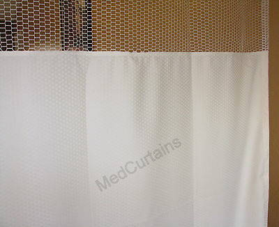 Curtain Natural 68Wx90 HOSPITAL CLINIC LAB Antibacterial Antimicrobial medical