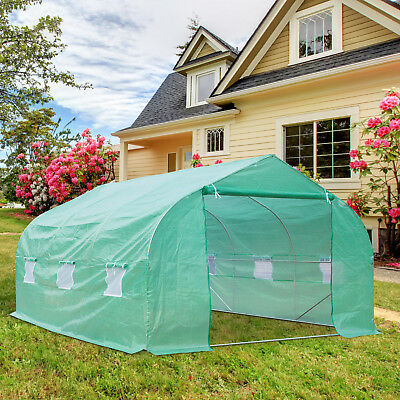 15'x10'x7' Walk-in Greenhouse Growing House Ventilation Portable Outdoor PE