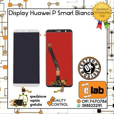 Display Lcd Touch Screen Schermo Per Huawei P Smart Bianco Fig-Lx1