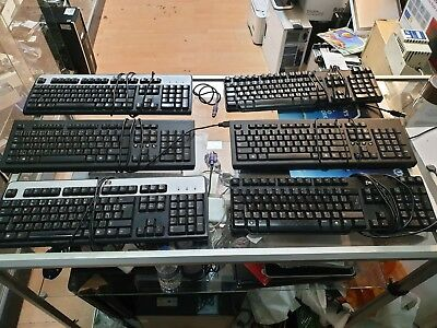 Job Lot of PreOwned  PS2 and USB Keyboards Dell HP etc.