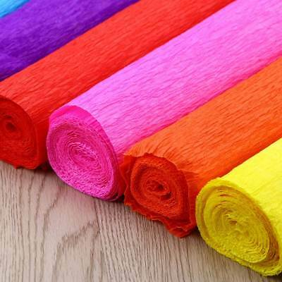 8 Rolls Coloured Tissue Paper Gift Wrap Wrapping Craft Packaging Paper Pom Pom