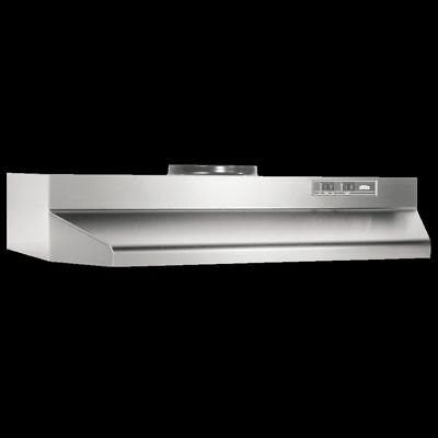 """Over The Stove Range Hood Ducted Stainless Steel 30"""" Under Cabinet Kitchen Fan"""