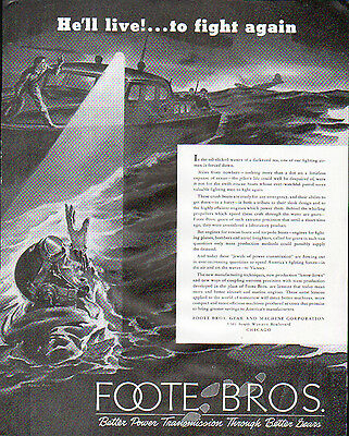 1942 Foote Bros. Gear & Machine Ad- Donald Mills Painting