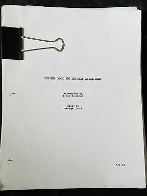 Indiana Jones and the City of the Gods Frank Darabont Movie Script Reprint