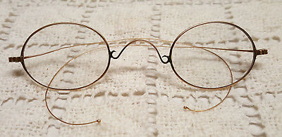 a25c7facf6 ANTIQUE 14k YELLOW GOLD OVAL EYEGLASSES SPECTACLES with CASE HALLMARKED