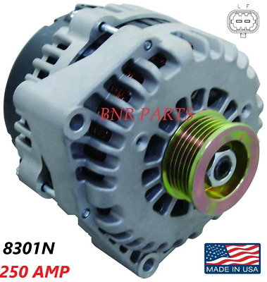 250 AMP 8301N Alternator High Output Chevy GMC Hummer Cadillac 2 pin NEW HD