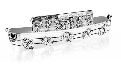 Personalised Silver Noah's Ark Birth/Christening Certificate Holder Engraved