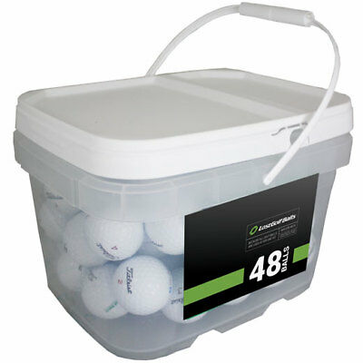 48 Titleist Pro V1x 2018 PGA Tour Players Practice Balls! *In a Free Bucket!*