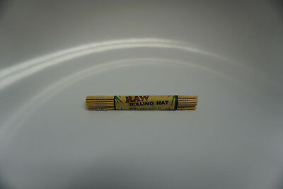 1 RAW Bamboo Rolling Mat  - Portable Natural Gummed Hand Tray Paper