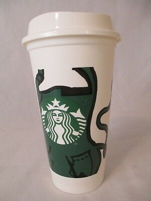 Starbucks RARE Apron Hot Cup,Coffee Tea to go cup, tumbler, mug collectible