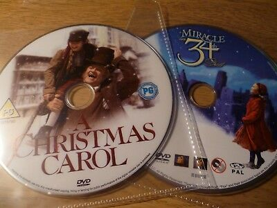 A Christmas Carol / Miracle On 34th Street (1947) DVD Bundle (Discs Only)