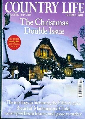 Country Life Magazine 12 / 19 December 2018 ~ Sealed Christmas Double Issue ~