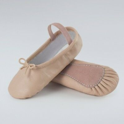 Full Sole Leather Ballet Shoes Pink