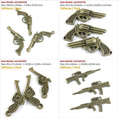 40sets dark gold-tone spiral style toggle clasps h1281