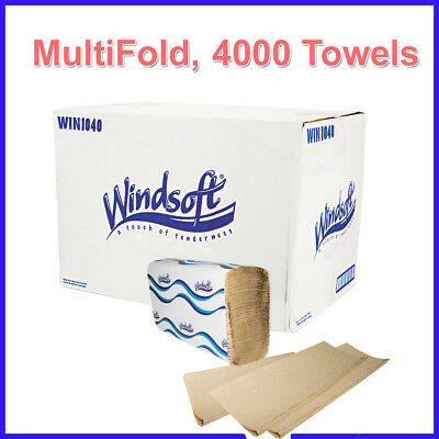 [No Tax] 16 Pack, Windsoft MultiFold Paper Towels 1-ply, Natural, Embossed