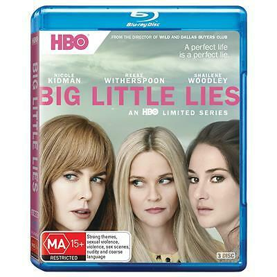 Big Little Lies : Season 1 (Blu-ray, 2017, 3-Disc Set) (Region B) Aussie Release