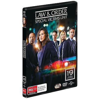 Law And Order -Special Victims Unit :Season 19 (DVD, 2018, 4-Disc Set)(Region 4)
