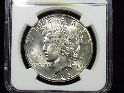 1923-S Silver Peace Dollar NGC MS62 (004)